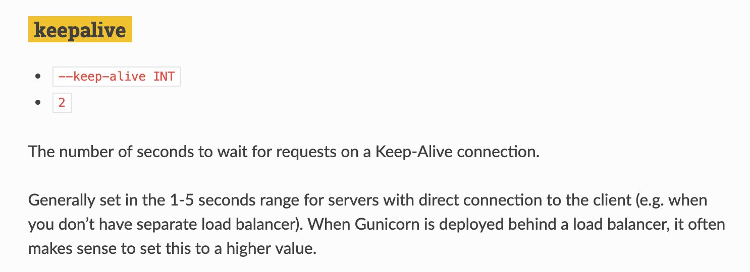 Gunicorn 的超时时间设置